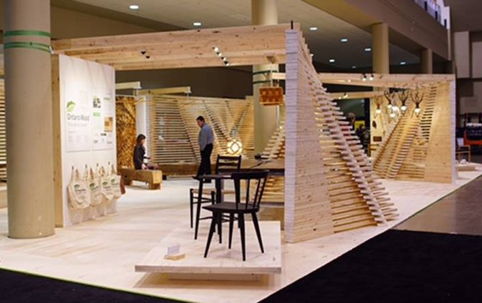 Ontario Wood Booth Design At IDS17 In Toronto Interior Show