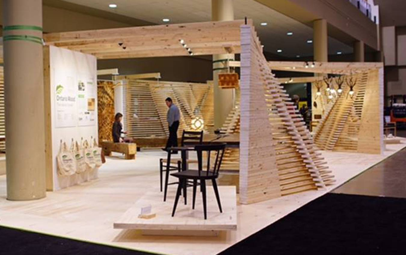 Ontario Wood Booth Design At Ids17 In Toronto Interior Design Show